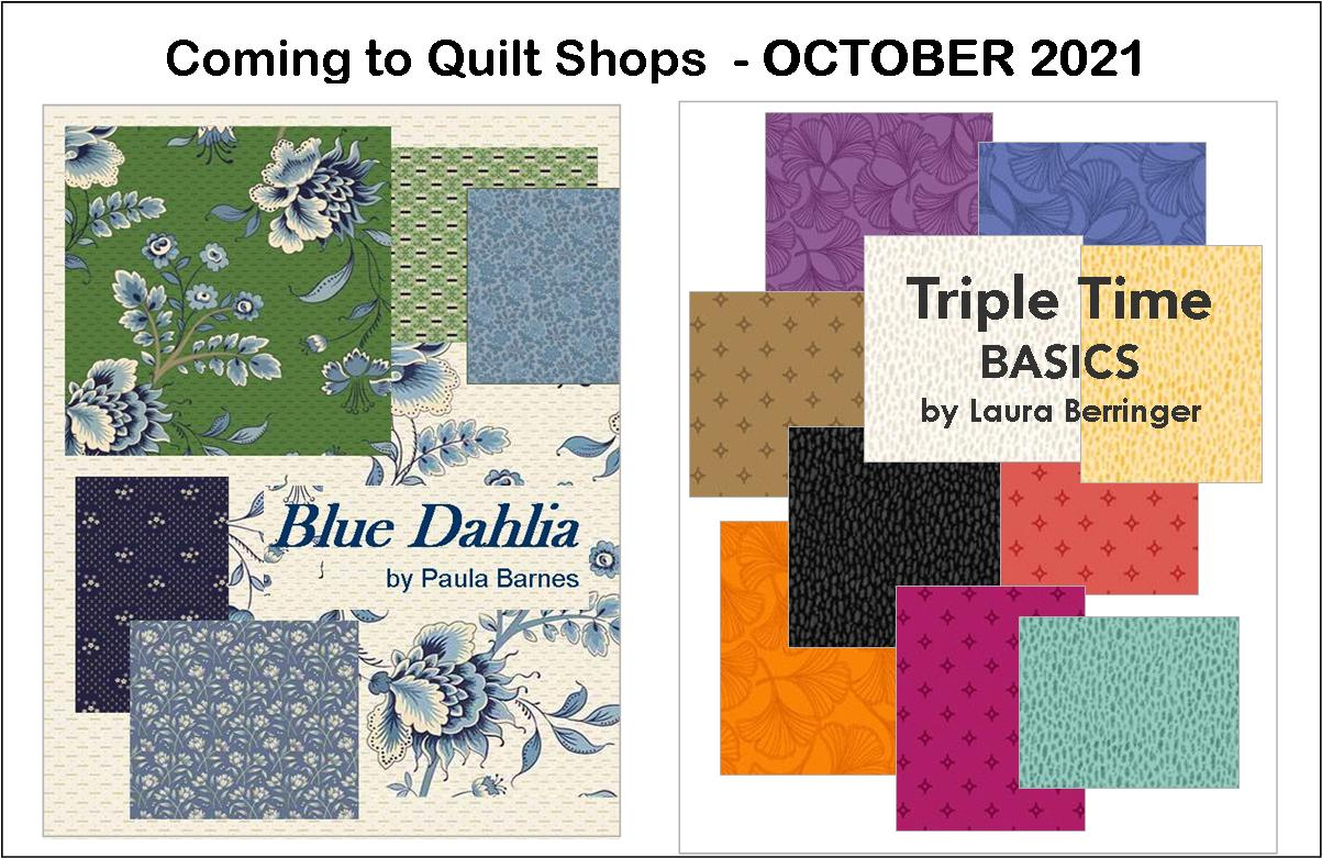 Coming to Quilt Shops This Month!